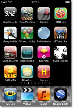 icons on iPod Touch